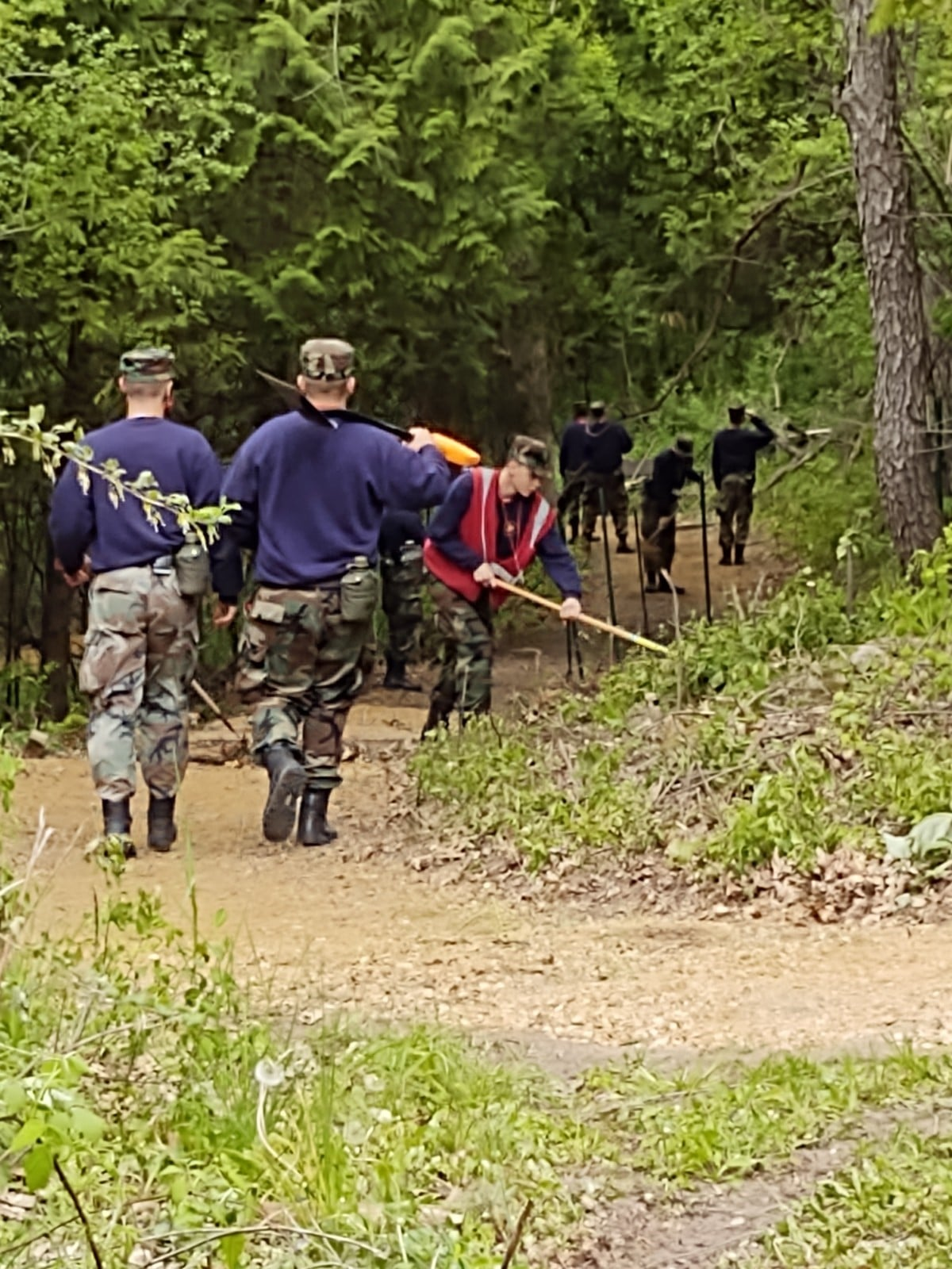 Wisconsin National Guard Challenge Academy Class 46 cadets complete community service projects at Camp Brandenburg in Dane, Wis. Class 46 cadets completed 5,079 hours of community service, averaging more than 64 hours per cadet. Submitted photo