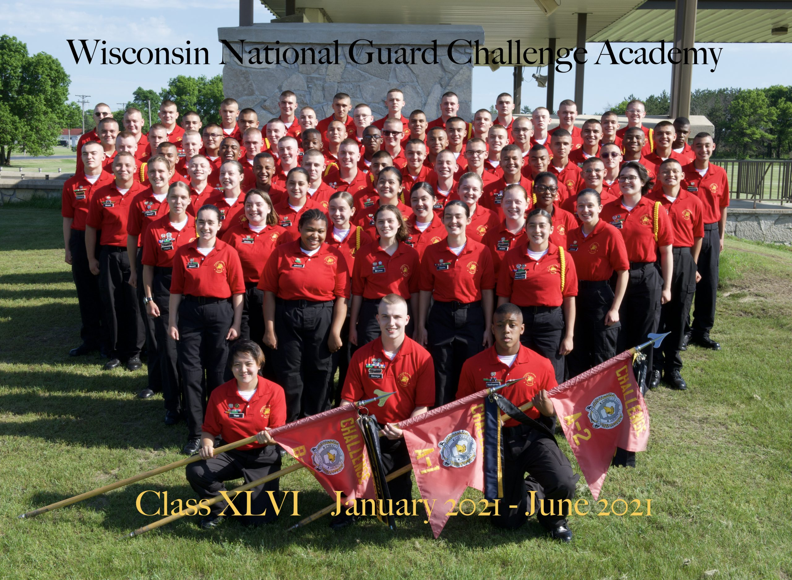 Wisconsin National Guard Challenge Academy Class 46 graduates. Submitted photo